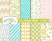 Digital Scrapbook Papers and Digital Paper Packs - DP111