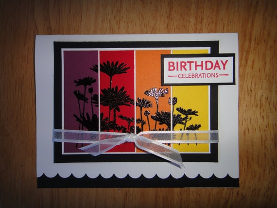 Stampin Up handmade happy birthday card with daisy flower