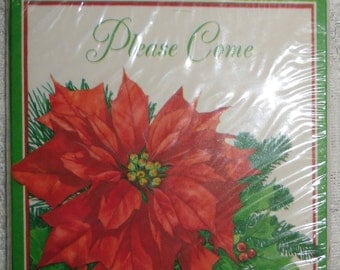 Vintage Christmas Invitations - 2 Packages of Hallmark Invitations, 8 Invitations in Package, Holiday Party Invitations