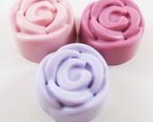 Suds and the City Soap: Romantic Mini Rose Soap Set