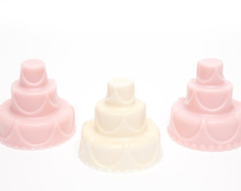 Mini Wedding Cake Soap Set - 3 Mini Soaps