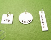 Personalized name charm: Add on to any necklace in my shop