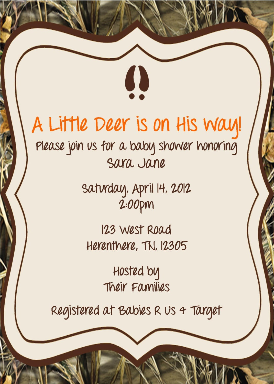 Little Hunter Baby Shower Invitation By Whateveris On Etsy