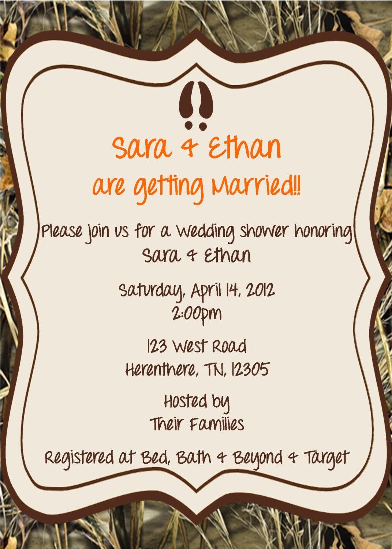 Camo wedding shower invitation by whateveris on etsy