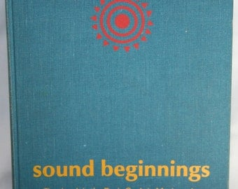Vintage Music Book - Sound Beginnings McGraw Hill 1967 - Hardcover Teaching Book - Out of Print