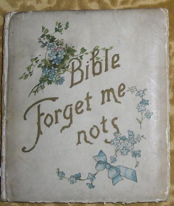 Reserved for N - Antique Bible Forget Me Nots - DeWolfe, Fiskee & Co. Boston 1898