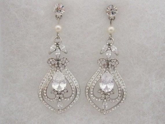 Wedding Earring Pearl Bridal earring vintage Wedding Jewelry Earrings Bridal Jewelry earrings Wedding earring vintage bridesmaid earrings