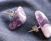 Amethyst Semi Precious Stone Earrings