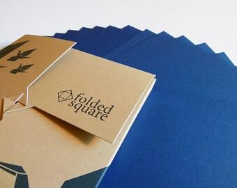 Blue Origami Paper 100 sheet gift set - Pantone Blue 301