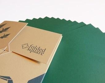 Green Origami Paper 100 sheet gift set - Pantone Green 341