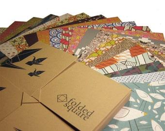 Papel para papiroflexia - Paquete de regalo de 200 hojas de estampados de diseño