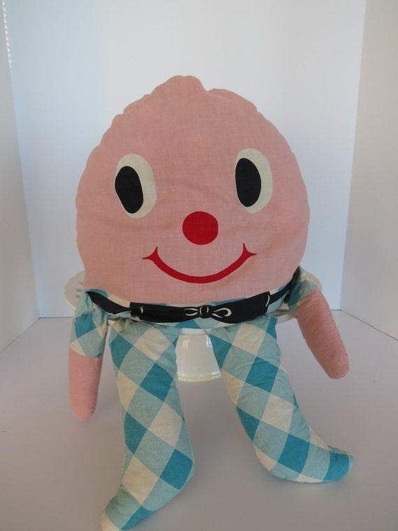 Humpty Dumpty Pillow Doll by VintageCocobytheLake on Etsy