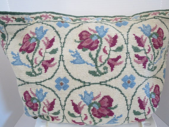 Wool Needlepoint Pillow Cover from Greece