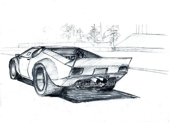 De Tomaso Pantera GTS Classic Racing Car Print by ...