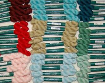 Bella Lusso - Fine Merino Wool - Colors 000-575 - 2-ply Crewel Weight  - 45 Yard Skeins or 350 Yard Hanks