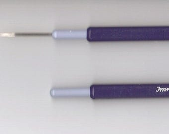 Lace Crochet Hook - Steel - Compact Design - US Size 14 (0.60mm) through Size 6 (1.75mm)