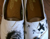 Custom Hand Painted Dandelion TOMS