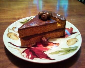 Fall cake card or recipe holder