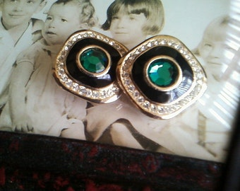 Dana Emerald Clip Earrings