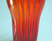 Strawberry Red Glass Vase