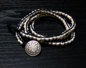 WhiteTriple Wrap Beaded Bracelet Chan Luu inspired