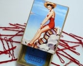 Mexican Vacation Senorita Pin Up Retro Beach Holiday PinUp Girl Bobby Pins Box Red Hair Pins or Pastel Mini option too