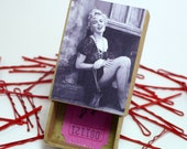 Marilyn Monroe Black and White Picture - Hair Pin Accessory Box with Pins