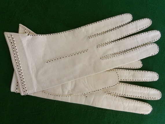 Vintage Top-Stitched Kid Leather Gloves