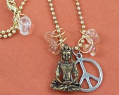 The Gypsy Road Buddha Peace Charm Necklace on Etsy