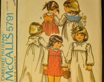 Children's Jumper and Blouse Size 4 Uncut Vintage 1977 Sewing Pattern-McCall's 5791