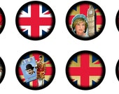 Union jack Abbey Road British Icon Bottle Cap Images 1 inch Circle Digital Collage Sheet (126)