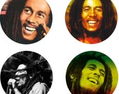Bob Marley Bottle Cap Images 1 inch circles Digital Collage Sheet (174) Instant Download