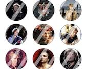 Bon Jovi 1 inch circle Bottle Cap Image Digital Collage Sheet (219)