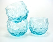 Set of 3 Aqua Lido Glasses
