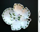 The Regal Bone China Collection Floral  Candy Cookie Sweets Dish Plate