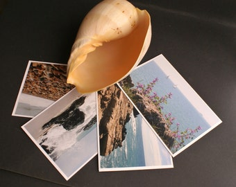 4 Sea Ocean Summer Theme Fine Art Photo Greeting Notecards Envelopes Included