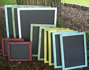 Chalkboard  - Wedding Decor -  Wedding Sign Chalk Board Set - Restaurant - Menu Chalkboard - Wedding Bar Chalk Board Set of 11 - Blackboard