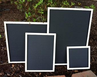 Chalkboard  - Shabby Wedding Decor -  Wedding Sign Bar Chalk Board Set - Restaurant Menu Chalkboard - Wedding Bar Chalk Board Set