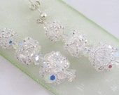 Swarovski Crystal Handwoven Bridal and Special Occasion  Earrings