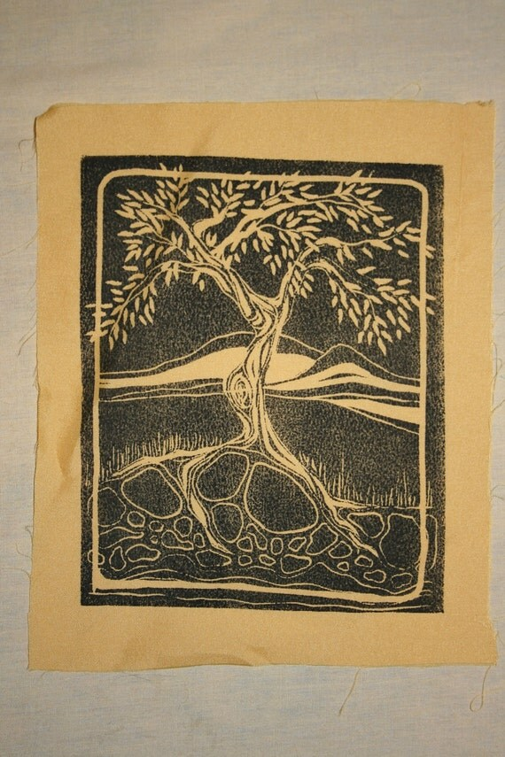 Hand Printed Linocuts - Clothing Patches and Wall Hangings