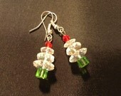 Christmas Tree Earrings, holiday earrings, holiday sparkle