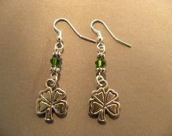St. Patrick's Day Shamrock Earrings