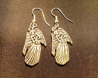 Angel earrings, Christian jewelry, Easter earrings, Christmas jewelry