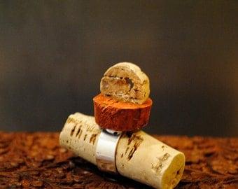 carved cork ring