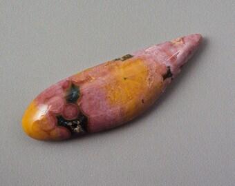 Ocean Jasper- Pink and Yellow Freeform Cabochon