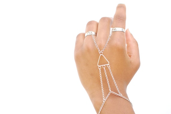 Double Ring- Silver Slave Bracelets