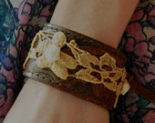 ON SALE // Western Love Story // Tooled Leather Cuff Bracelet