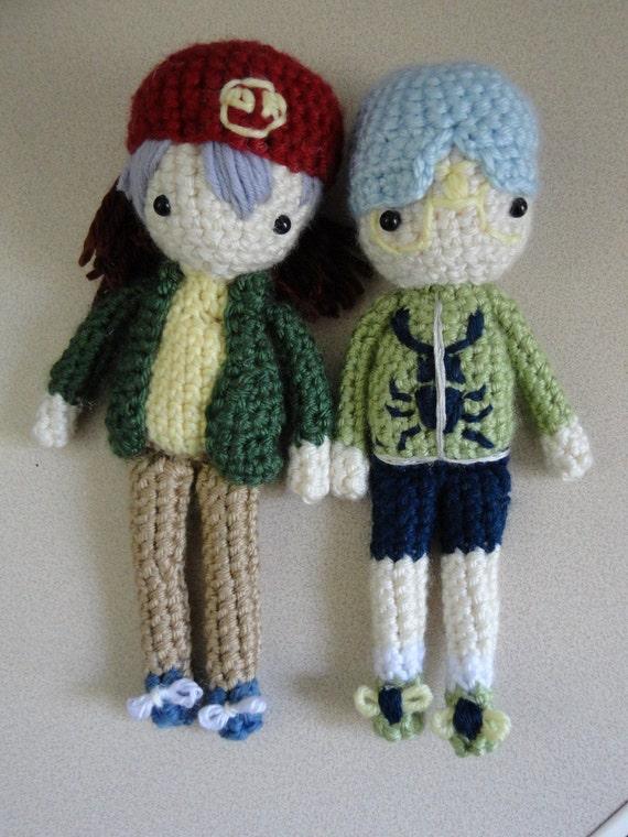 Custom Order for nicolette-nightshade: Rex and Weevil Dolls