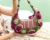 Pattern for Flowered Shoulder Bag for this Spring and upcoming Summer ----- FInished item costs 69.0 USD