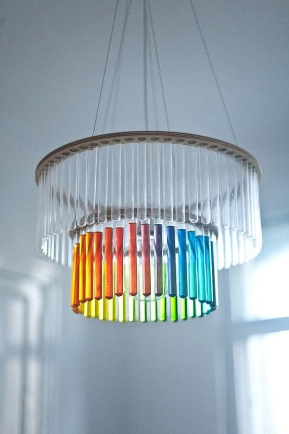 Maria S.C. double test tubes chandelier